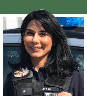 Mit polizisten zusammenleben einem Gespräch mit
